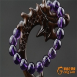 天然 紫水晶手珠26克