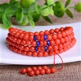 【联盟】收藏级稀有天然牛血红沙丁珊瑚108颗佛珠珠串