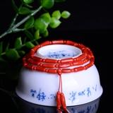 【联盟】弥足珍贵原料 天然牛血红沙丁珊瑚竹节佛珠珠串