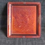 明治时期素面铜文盘